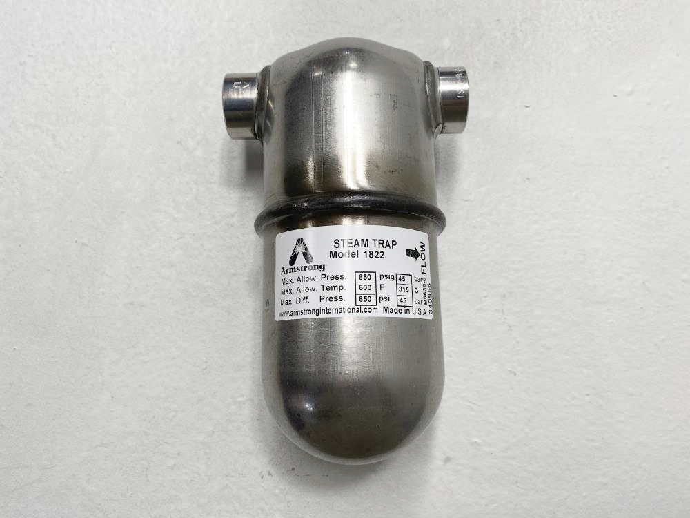 "Armstrong 1822 Steam Trap, 1/2"" NPT, 650 PSI, #38, D503334"