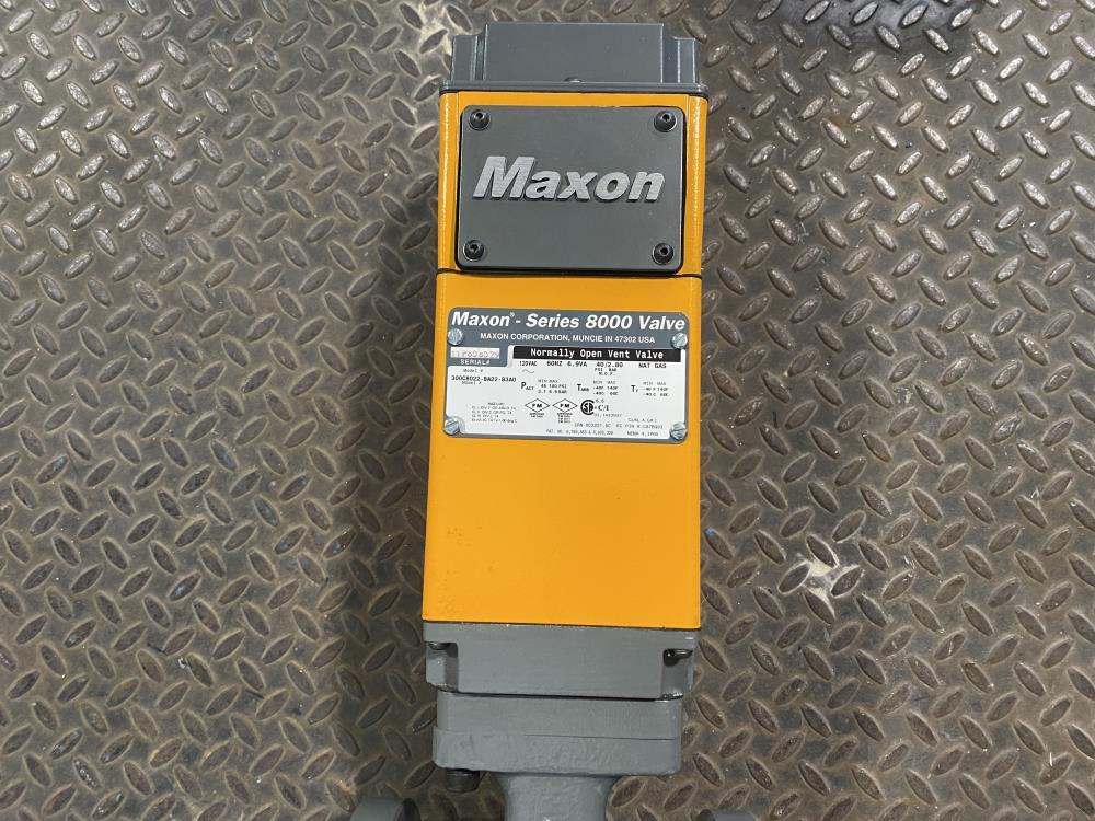 """Maxon 8000 Series 3"""" Air Actuated Valve 300C8022-BA22-B3A0"""