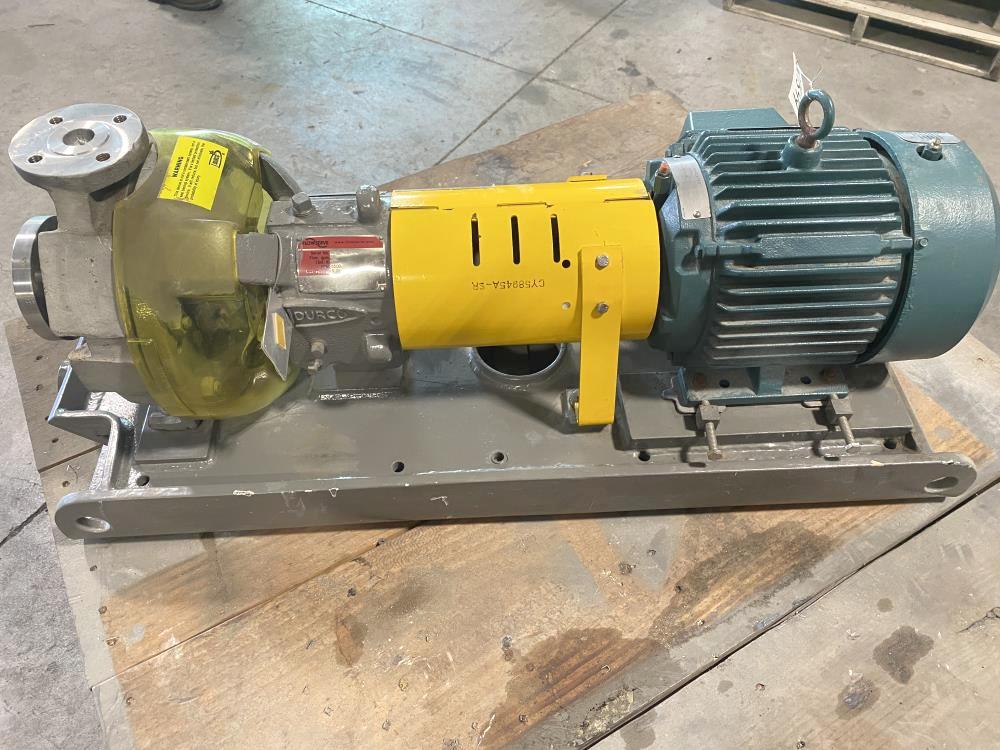 Flowserve Durco MK3 STD Centrifugal Pump 1K1.5X1LF-82, D4/CF8M & 5HP Motor