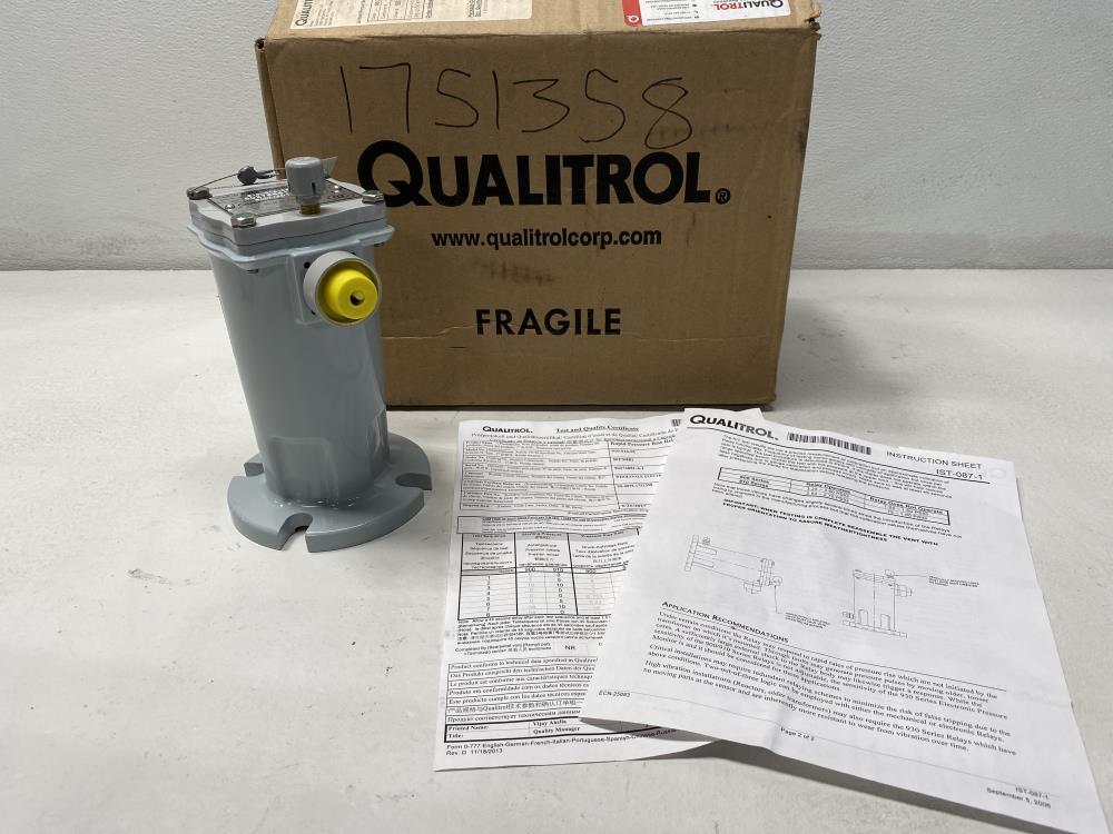 Qualitrol Rapid Pressure Rise Relay 910-014-02