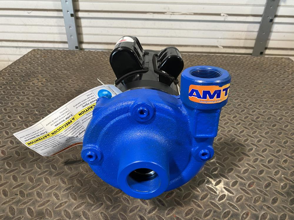 "AMT 1-1/2"" x 1-1/4"" Cast Iron High Head Centrifugal Pump 4904-95 w/ 2 HP Motor"