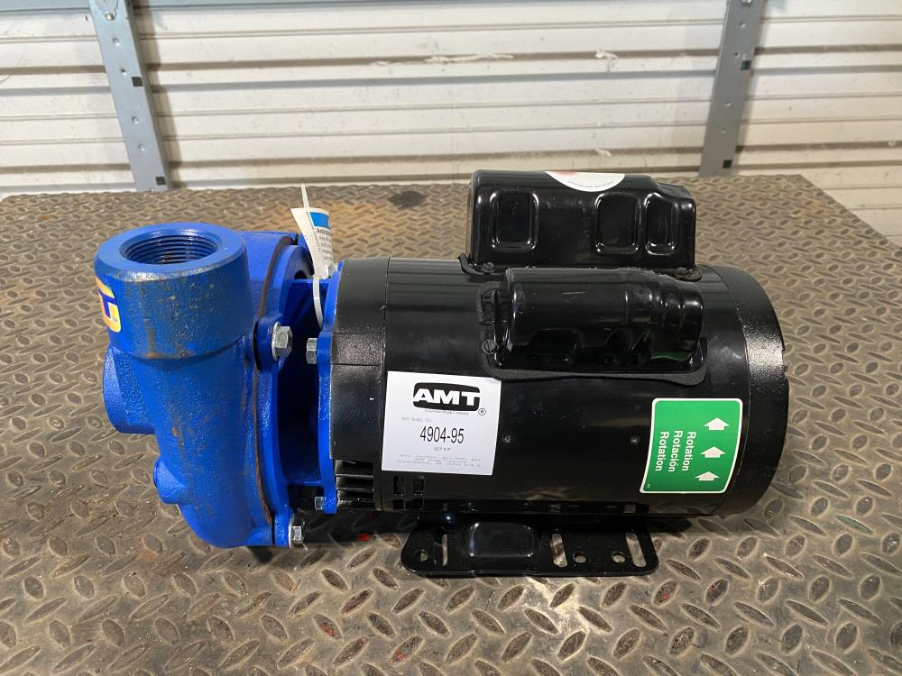 "AMT 1-1/2"" x 1-1/4"" Cast Iron High Head Centrifugal Pump 4904-95 w/ 2 HP Motor"