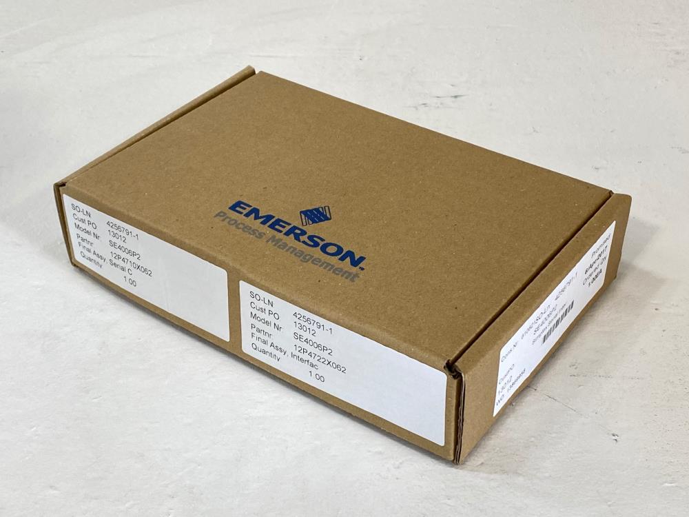 Emerson Fisher Rosemount DeltaV Serial Interface KJ3241X1-BK1, KJ4006X1-BD1
