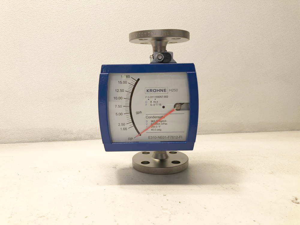 "Krohne Variable Area Flow Meter Model H250/RR/M9 w/ 1"" 150# 316SS Flange"