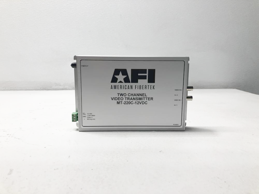 American Fibertek AFI Two Channel Video Transmitter MT-220C-12VDC w/ Cable