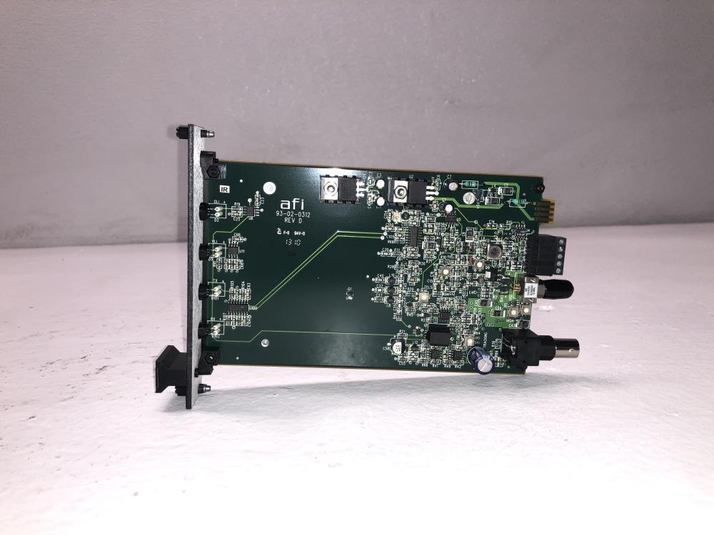 American Fibertek AFI Low Profile Video RS422 Rack Card RRM-1400