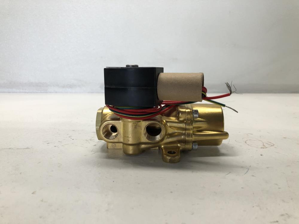 """ASCO Red Hat 3/8"""" THD 4-Way, Brass, Solenoid Valve  EF8344G072, EF8003G1"""
