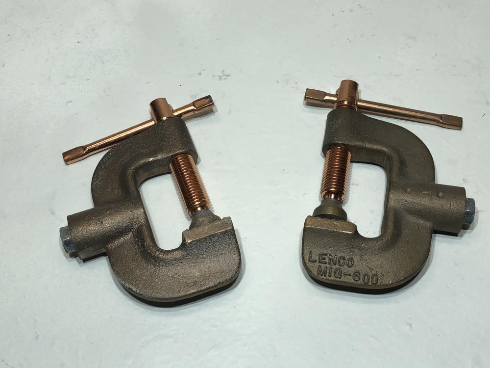 Lot of (2) Lenco MIG Welding Ground Clamp MIG-600