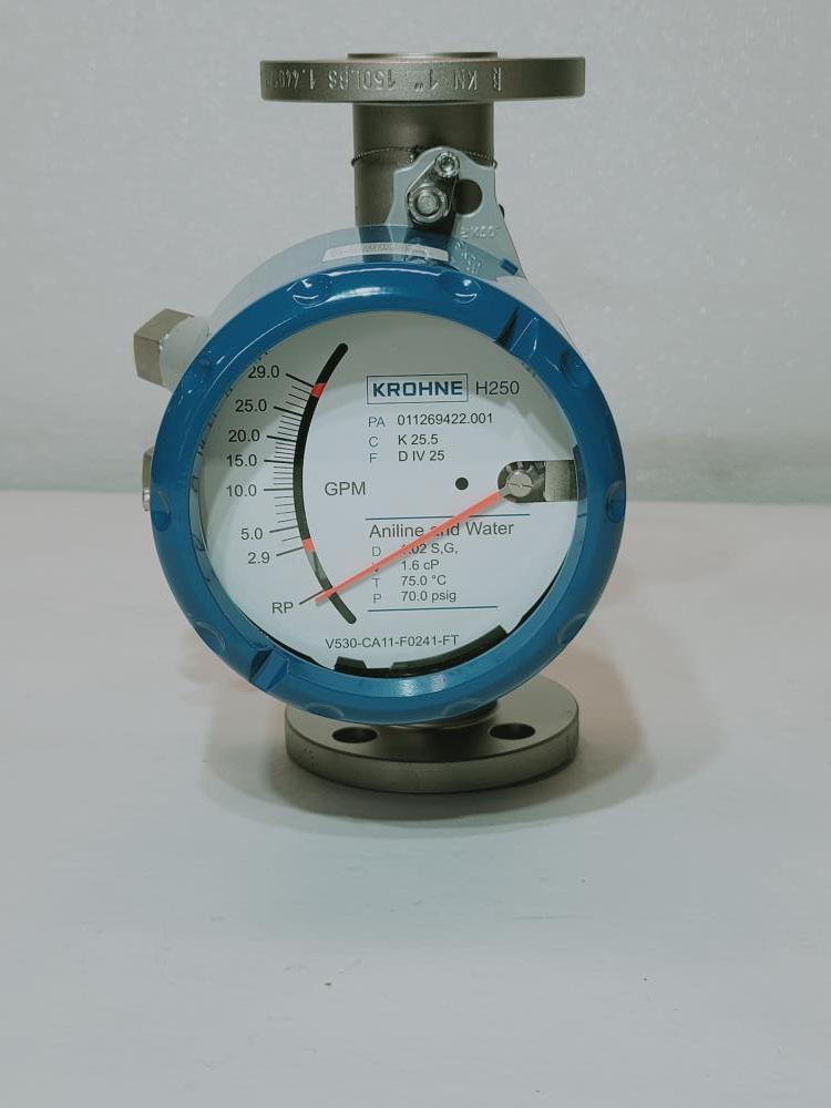 """Krohne 1"""" Stainless Steel Variable Area Flow Meter H250/RR/M40/ESK/K2-EX"""