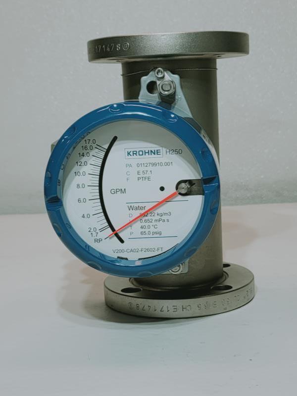 "Krohne 2"" 150# Stainless Steel Variable Area Flowmeter H250/C/M40/ESK-EX"