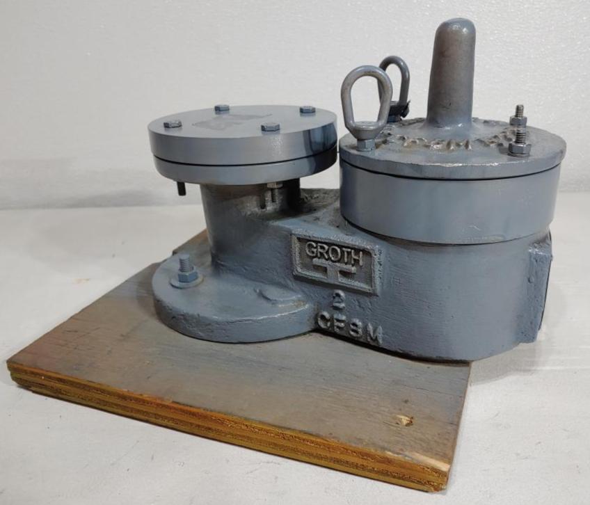 "Groth 2"" RF 150 CF8M Vacuum Pressure Relief Vent Valve 1300A-02-555-TSO"