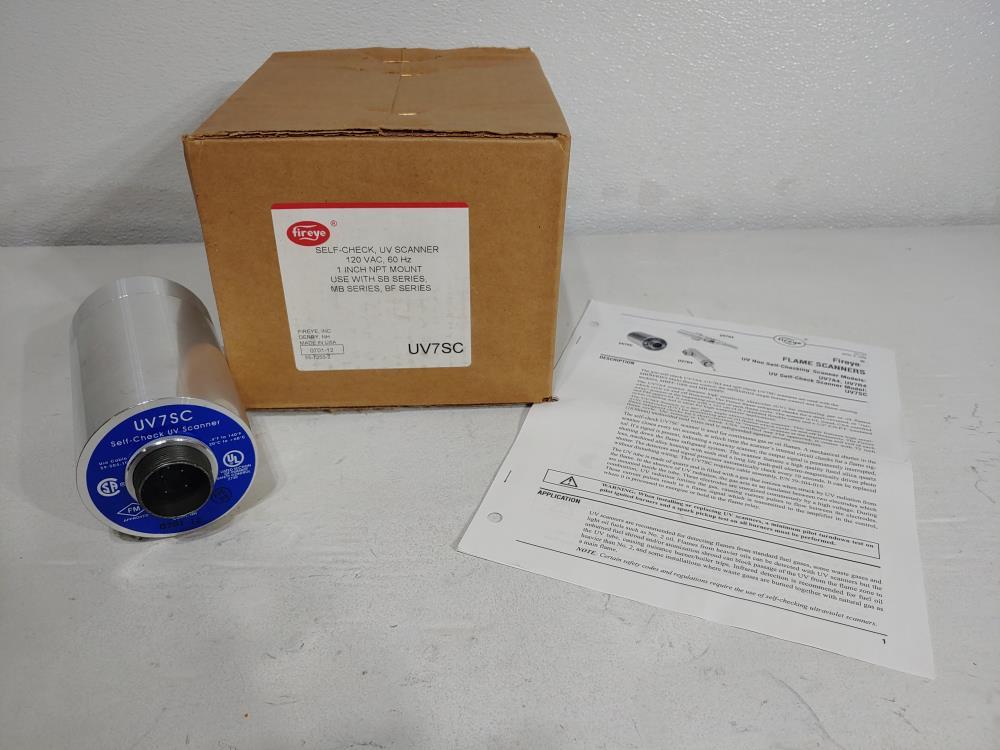 """FIREYE Self-Check UV Scanner 1"""" NPT Mount Part# UV7SC"""