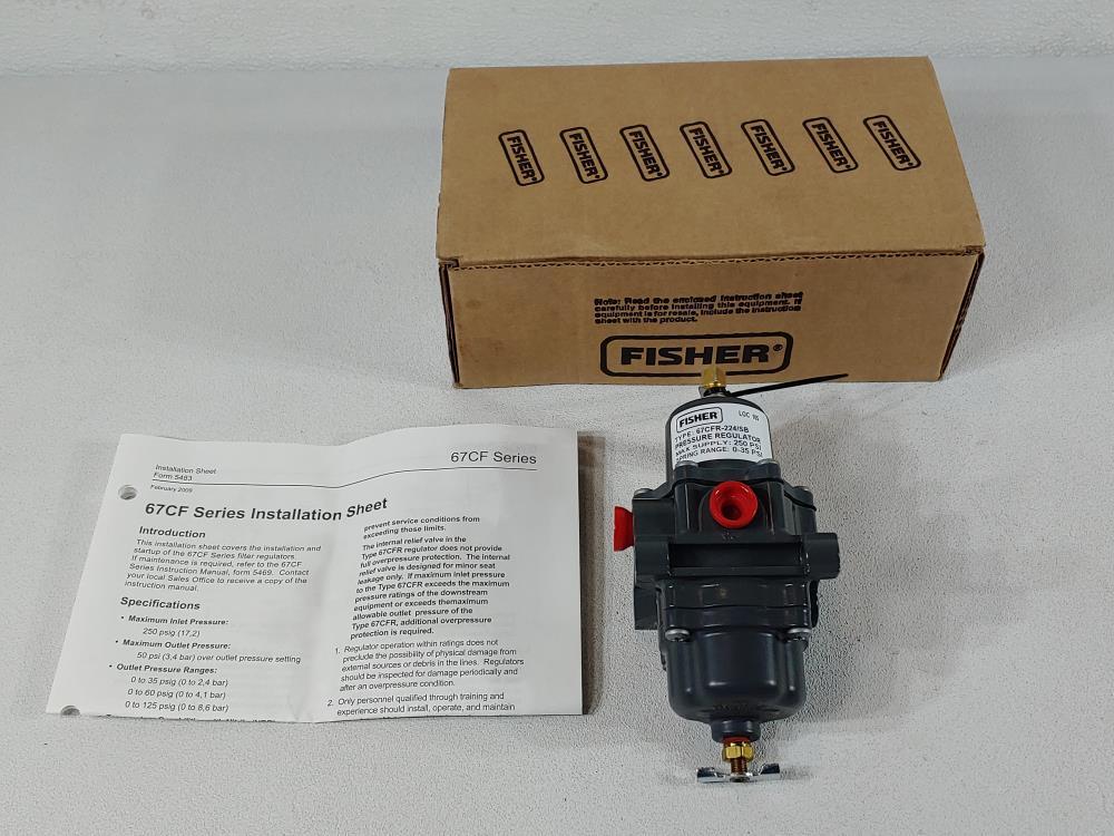 Fisher 67CF Series Filter Pressure Regulator Type 67CFR-224/SB