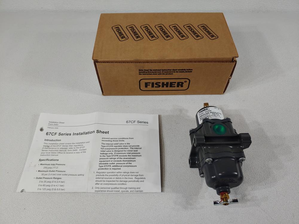 Fisher 67CF Series Filter Pressure Regulator Type 67CFR