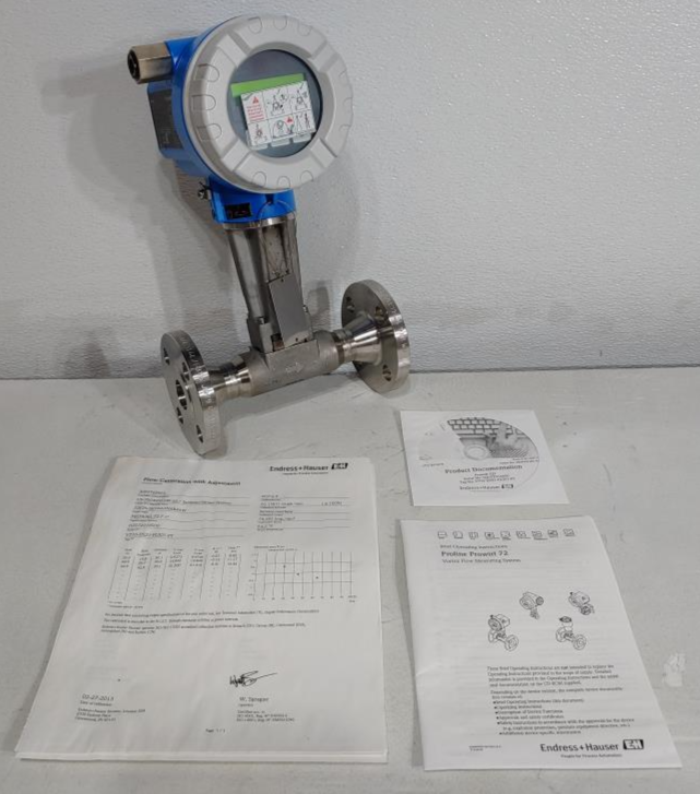 """Endress Hauser Prowirl F 1"""" 150# Stainless Flow Meter 72F25-SK1AA1NAB4AW"""