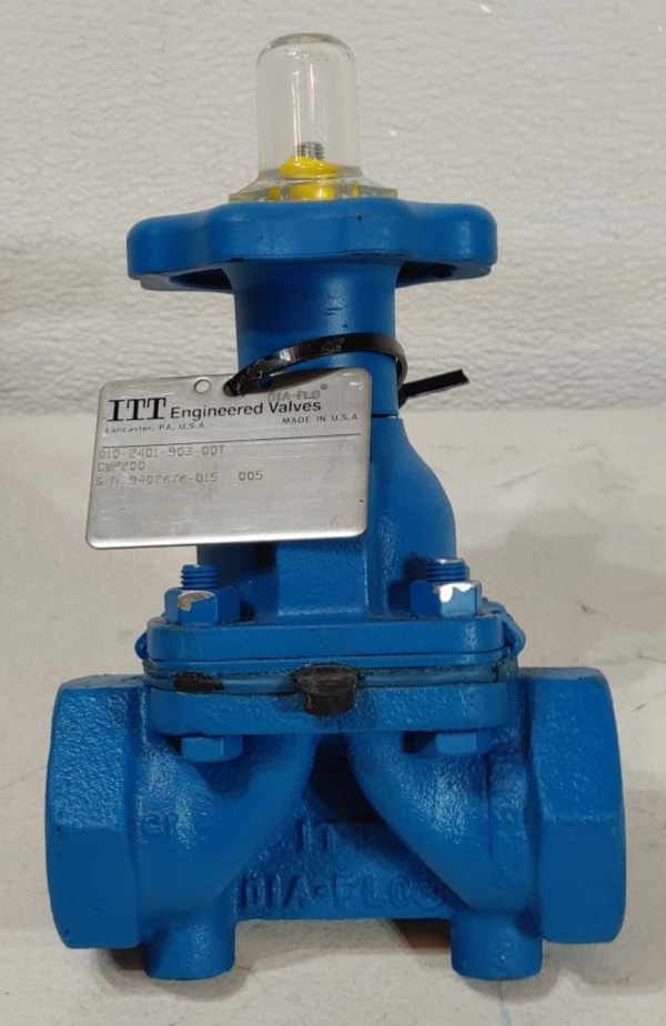 "ITT Dia-Flo 1"" Threaded Cast Iron Diaphragm Valve, 200 CWP, 010-2401-903-00T"