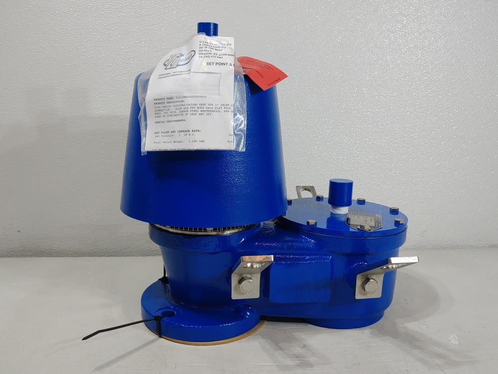 """Valve Concepts 3"""" 150# WCB Vacuum Pressure Relief Vent Valve 3103CBA00000000000"""
