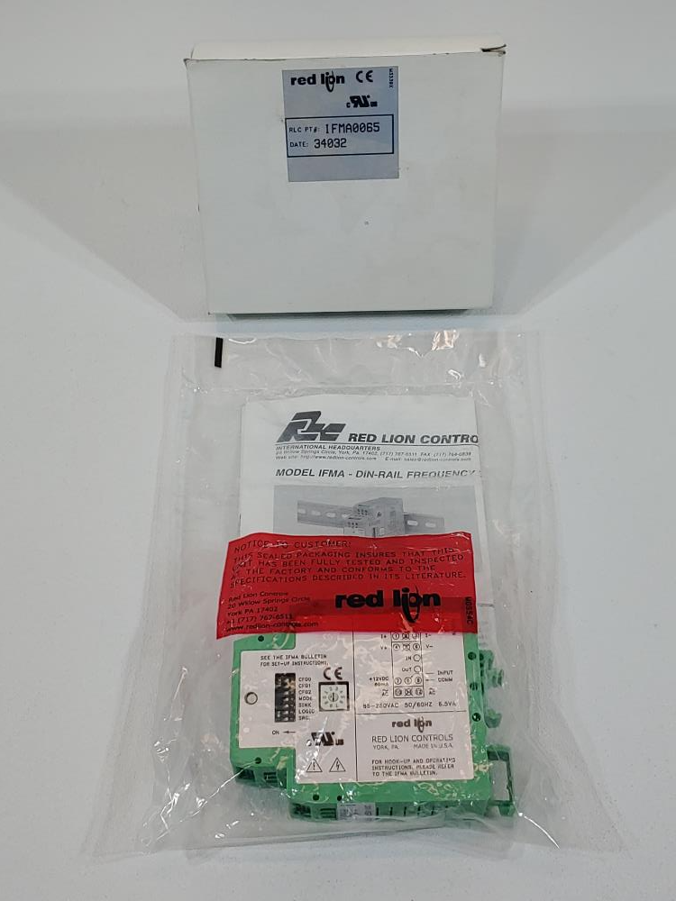 Red Lion Controls IMFA Din-Rail Frequency to Analog Converter Model IMFA-0065