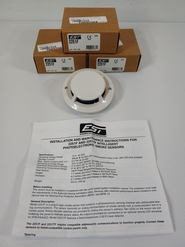 1 LOT Edwards Systems Technology & Fenwal Temperature & Smoke Sensors