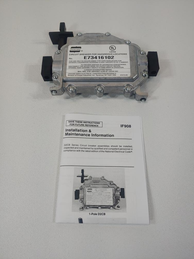 Crouse Hinds D2CB Circuit Breaker Assembly For Hazardous Locations E73416102