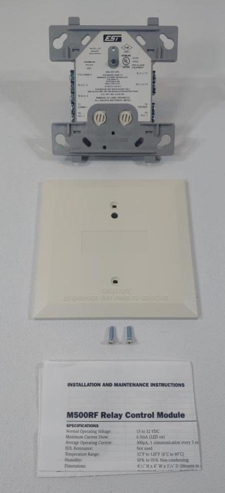 Edwards EST Addressable Relay Control Module Model M500RF
