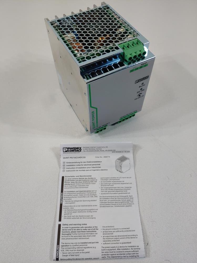 Phoenix Contact Power Supply Model QUINT-PS/1AC/24DC/20