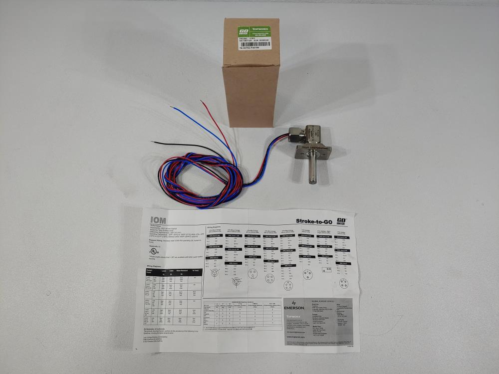 """Topworx Go-Switch Stroke-To-Go 2.062"""" Proximity Switch Model 7E-43752-F44199"""