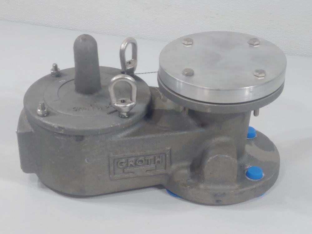 """Groth 2"""" FF 150 Aluminum Vacuum Pressure Relief Vent Valve 1300A-02-115-TOZ"""