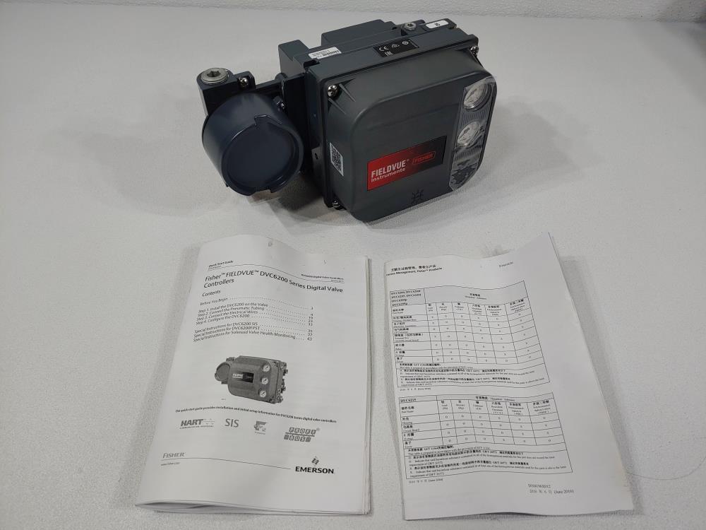Fisher Fieldvue DVC6200 Digital Single Action Valve Positioner DVC6200HW2