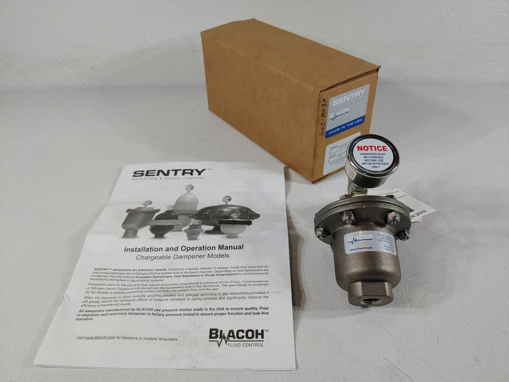 "Sentry Blacoh 3/8"" Stainless Steel Pulsation Dampener CTS1175V"