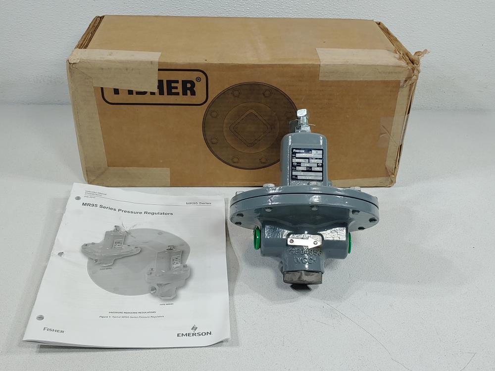 "Fisher 1/2"" WCC MR95L Pressure Regulator - Max Temp.: 180°F"