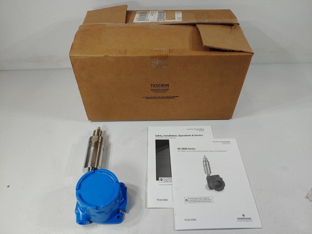 Tescom 44-5800E Series Electrically Heated Vaporizing Regulator 44-5862D241E
