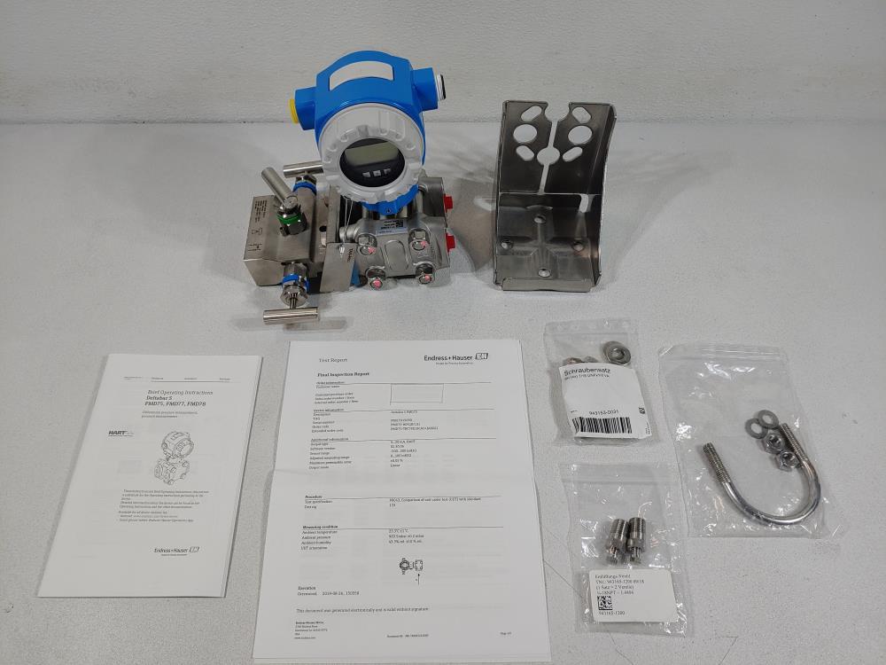 Endress Hauser PMD75-809Q8/101 Deltabar S Differential Pressure Transmitter
