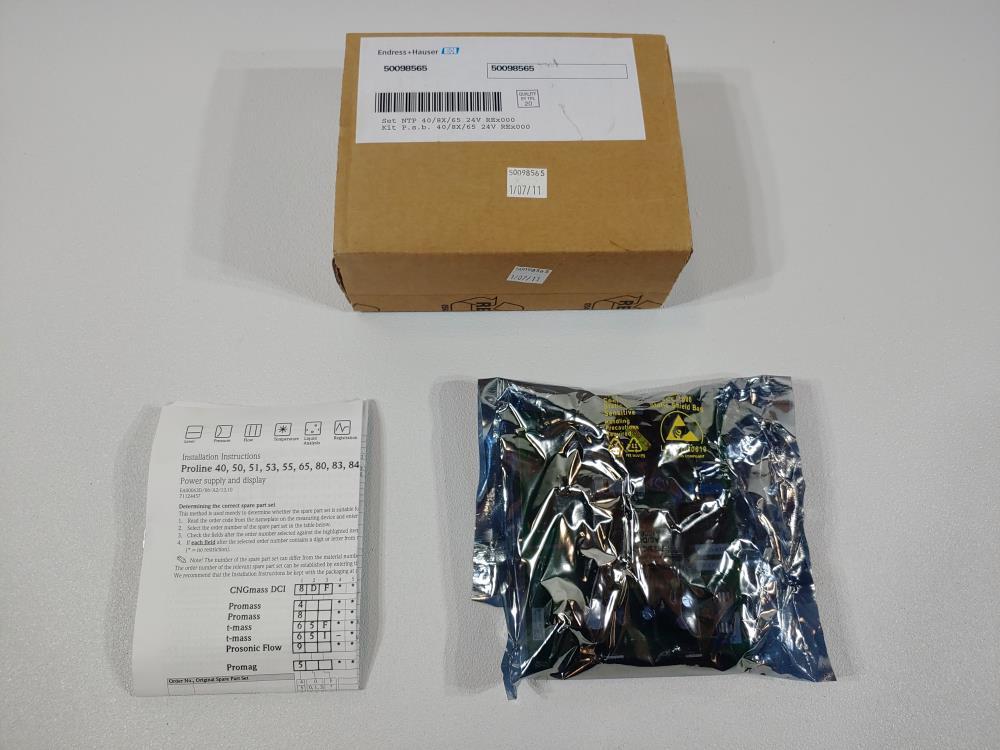 Endress Hauser Proline Power Supply KIT P.S.B. 40/8X/65 24V REX000 50098565