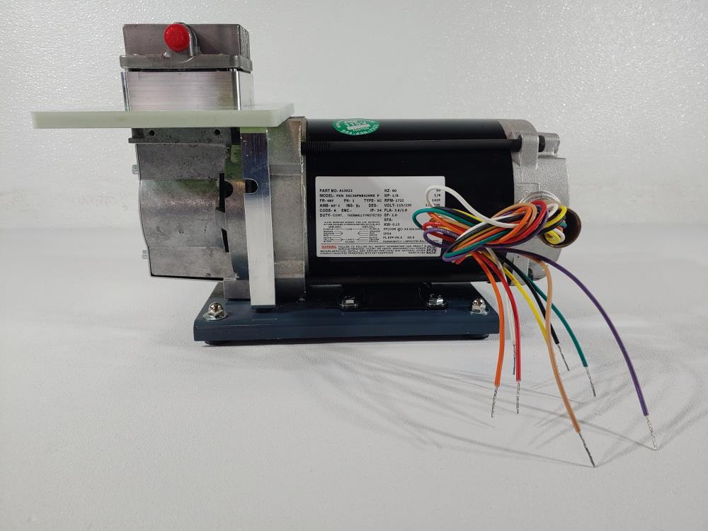 ADI Dia-Vac Pump Model# R221-FT-RA1-L with Marathon Electric Motor 5KC36PNB429MX