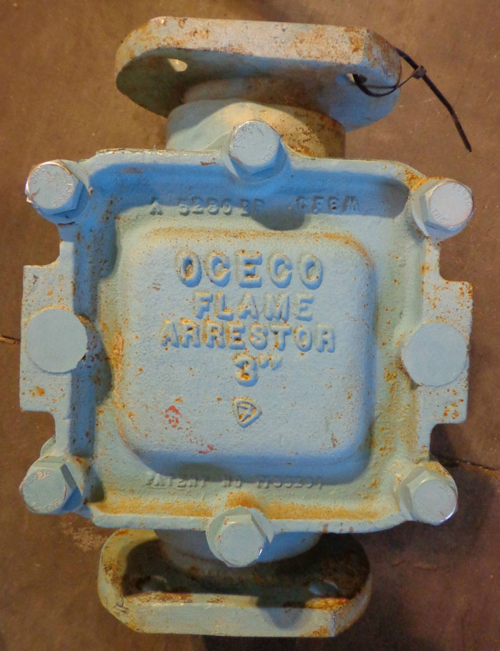 "OCECO 3"" FLAME ARRESTOR PART# 3-6FA-PR, MODEL E21"