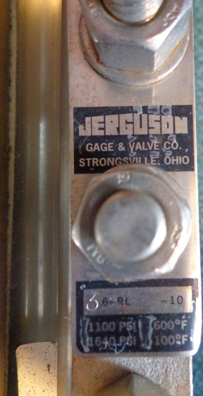 "JERGUSON 2"" SIGHT GLASS VALVE, 3-SECTION 3 6-RL-10"
