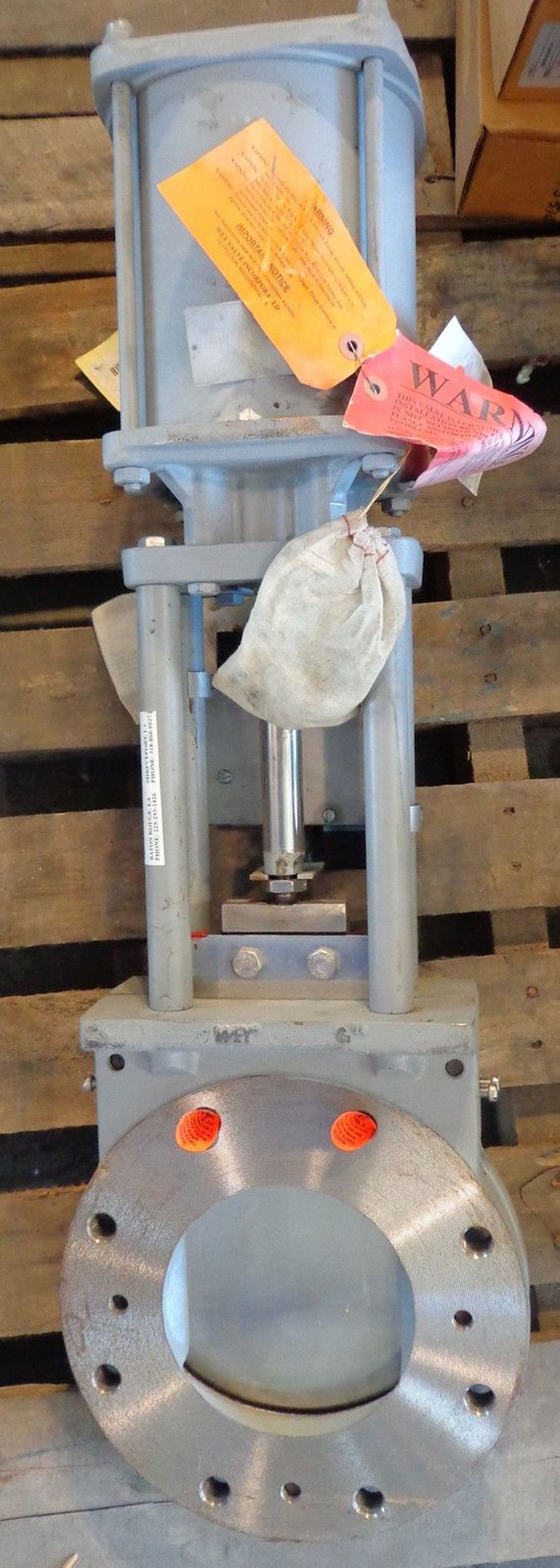 """WEY ACTUATED KNIFEGATE VALVE 6"""" NA1CB"""