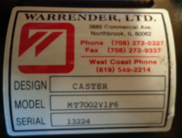 """WARRENDER 1"""" VALUTE FOR PUMP"""