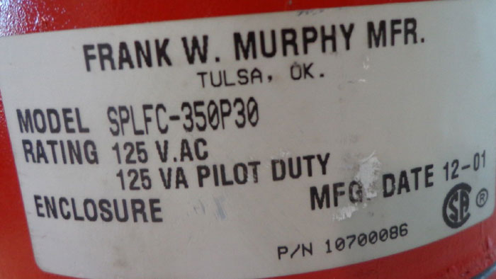 MURPHY TEMPERATURE AND SWITCHGAGE SPLFC-350P15  -OR- SPLFC-350P30 AVAILABLE