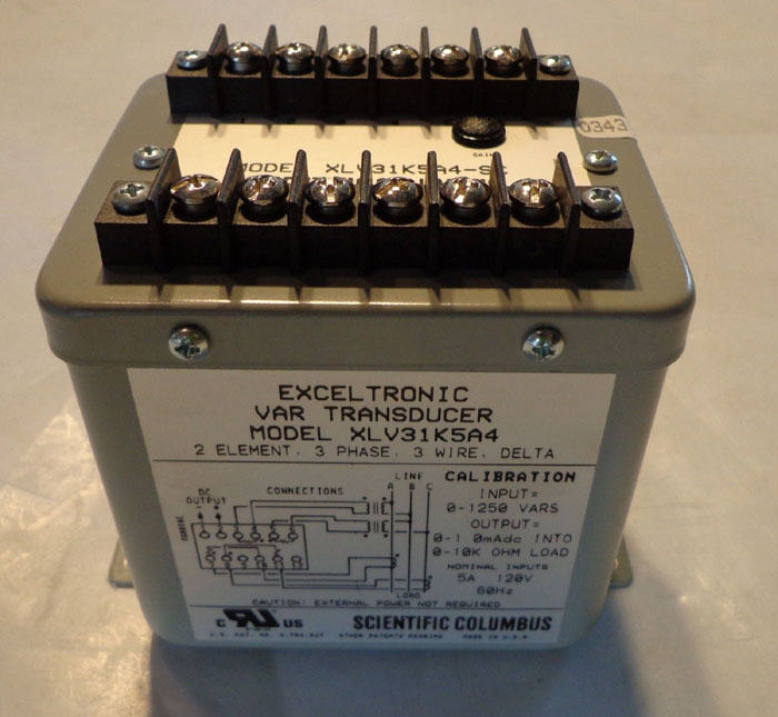 SCIENTIFIC COLUMBUS EXCELTRONIC VAR TRANSDUCER XLV31K5A4