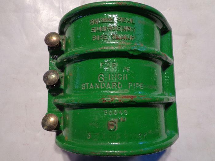 "LOT OF (2) SKINNER SEAL EMERGENCY PIPE CLAMPS 6"""