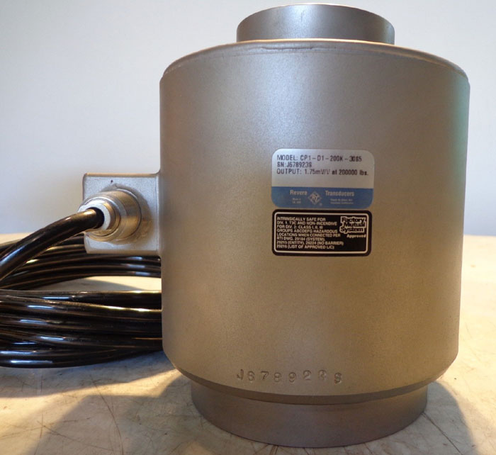 REVERE TRANSDUCERS LOAD CELL  MODEL CP1-D1-200K-30S5