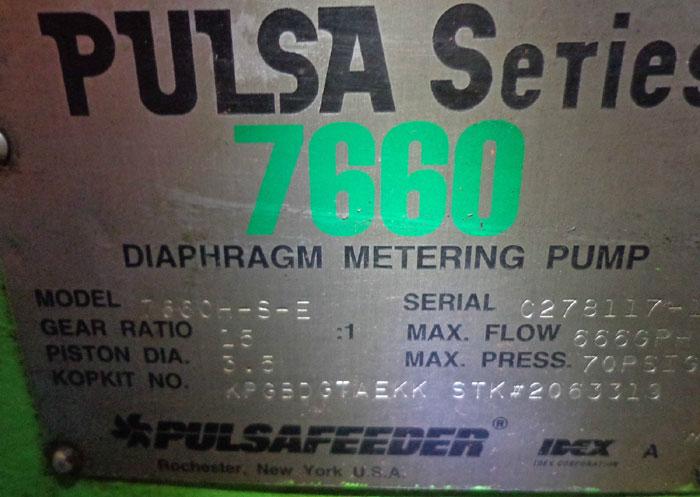 PULSA DIAPHRAGM METERING PUMP 7660h-S-E