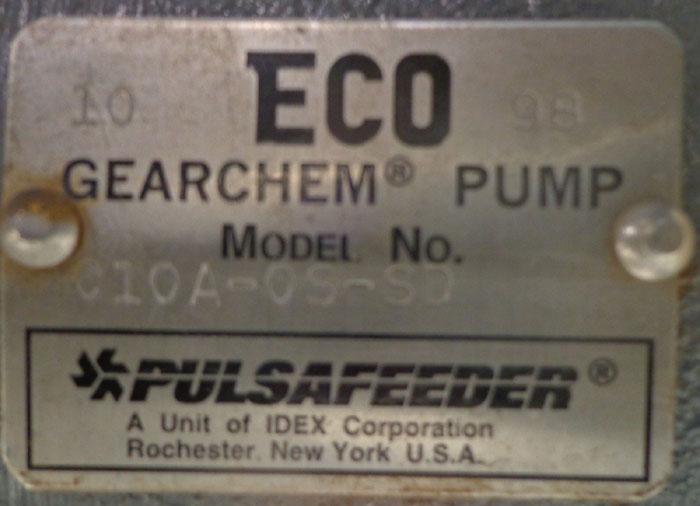 ECO GEARCHEM PULSAFEEDER PUMP C10A-OS-SD W/ BALDOR 1 HP MOTOR CM3545