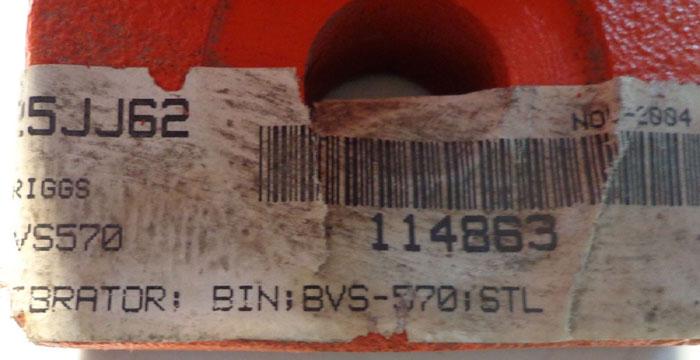 VIBCO SILENT PNEUMATIC TURBINE VIBRATOR BVS570