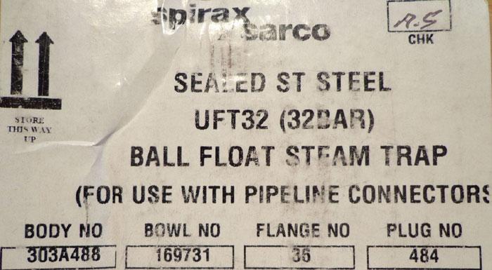 SPIRAX SARCO BALL FLOAT STEAM TRAP - UFT32-32