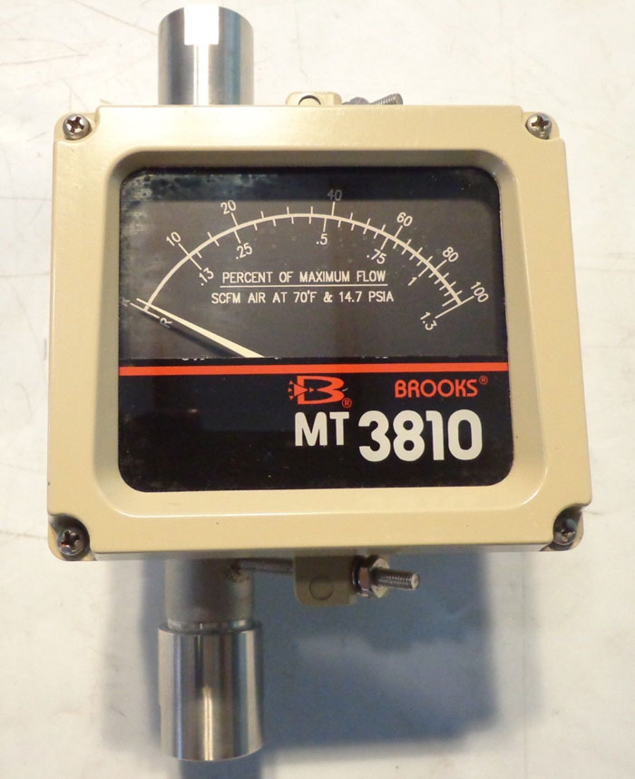 BROOKS ARMORED METAL TUBE ROTOMETER MT3810