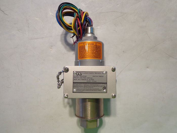 CCS Custom Control Sensors 5000 PSIG Pressure Switch 646GZEM2