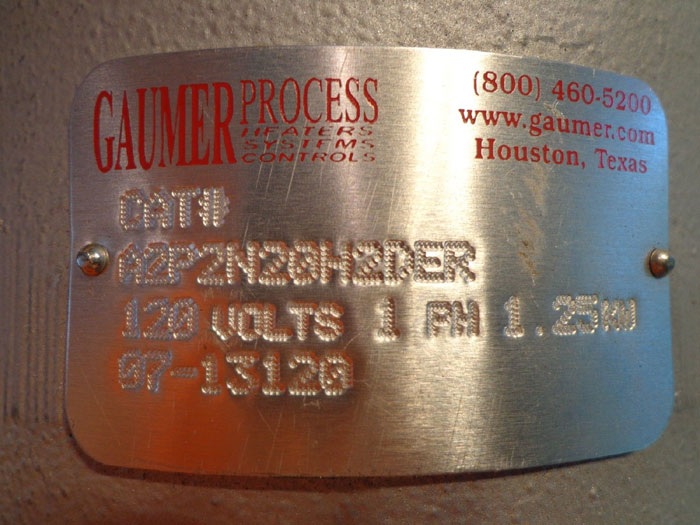GAUMER PROCESS THERMAL CONTROLLER - CAT #: A2P2N20H2DER